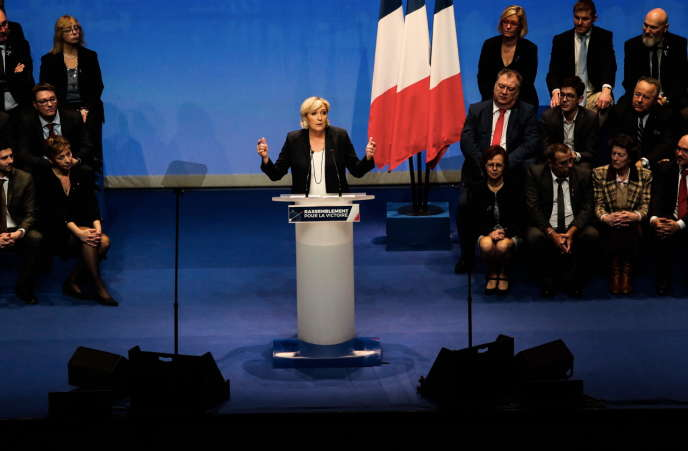 Marine Le Pen à Lille, le 11 mars.