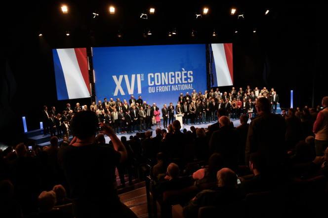 2e journée du XVIe congres du Front National dimanche 11 mars à Lille.