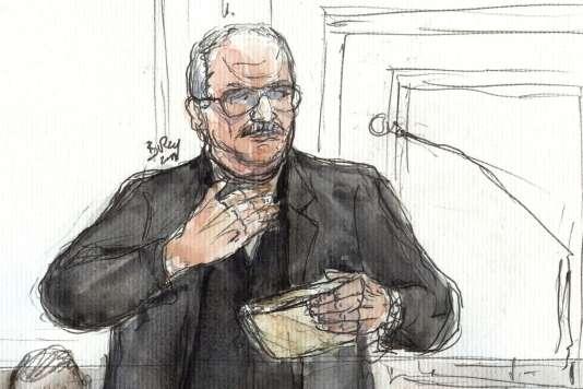 Carlos lors de son procès en appel à Paris le 5mars 2018.