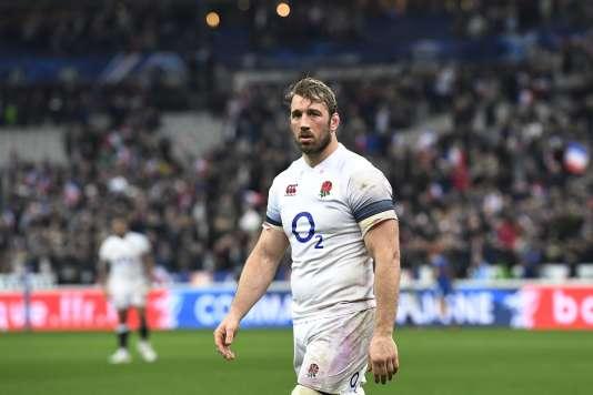 L'ailier anglais Chris Robshaw après la défaite de son équipe contre l'équipe française, au Stade de France (Seine-Saint-Denis), le 10 mars.