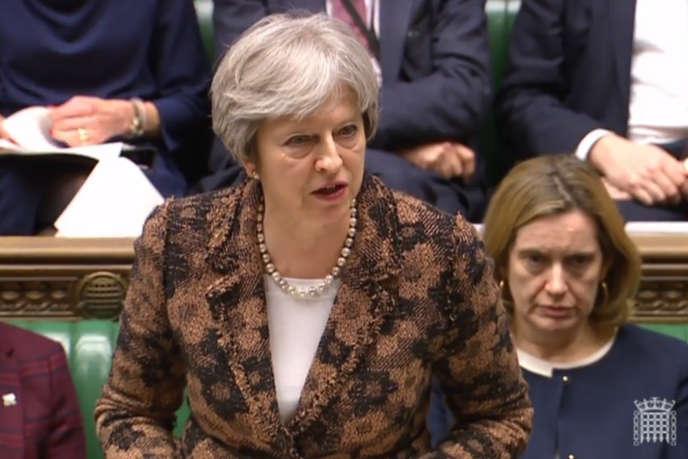 Theresa May devant les députés britanniques, le 12 mars.