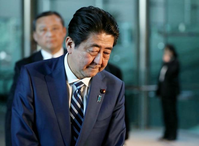 Le premier ministre japonais, Shinzo Abe, à Tokyo, le 12 mars.