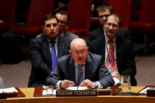Dans leur discours, les Etats-Unis ont cité «22 fois» la Russie, la France «16fois», le Royaume-Uni «12fois»,a déploré Vassily Nebenzia, l'ambassadeur russe à l'ONU.