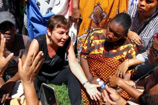 La ministre Annick Girardin à Mayotte le 12 mars.