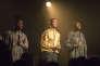 Kayus Bankole, G Hastings et Alloysious Massaquoi, des Young Fathers, lors d'un concert en 2014.