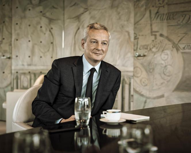 Bruno Le Maire, ministre de l'économie et des finances, le 10 mars 2018, à Bercy.