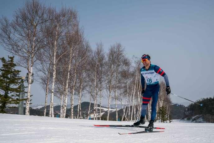 Benjamin Daviet a remporté l'argent lors de l'épreuve du 20 km libre en ski nordique, ludni 12 mars.
