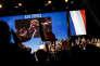 Marine Le Pen après son discours de clôture du XVIe congrès du FN, le 11 mars à Lille.