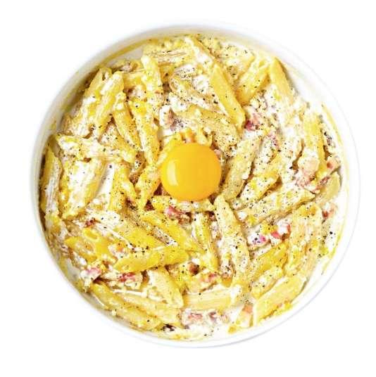 la cuisine des tudiants 59 les penne carbonara au micro ondes
