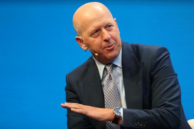 David M. Solomon, le patron de Goldman Sachs, à Beverly Hills, en Californie, en mai 2017.