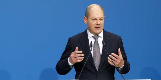 Olaf Scholz, vice-chancelier et nouveau ministre des finances, le 12 mars à Berlin.