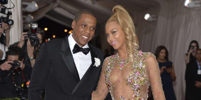 Jay Z et Beyoncé, en 2015, à New York.