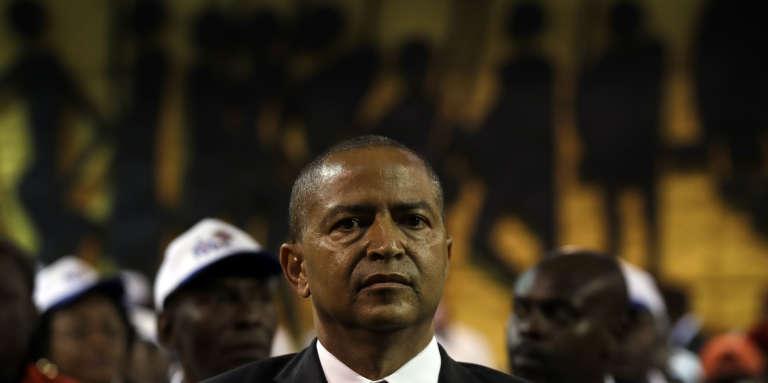 Moïse Katumbi le 12mars 2018, durant le rassemblement de trois jours organisé dans un hôtel de Johannesburg, en Afrique du Sud, pour lancer sa plate-forme d'opposition en vue de la présidentielle de décembre en République démocratique du Congo.