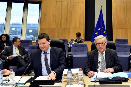 Martin Selmayr, secrétaire général à la Commission européenne, et Jean-Claude Juncker, président de la Commssion européenne.
