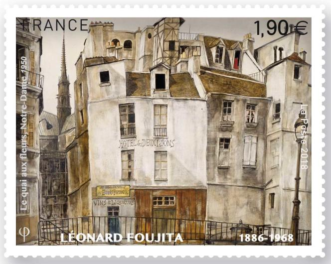 Timbre d'après Foujita, en vente depuis le 29 janvier.