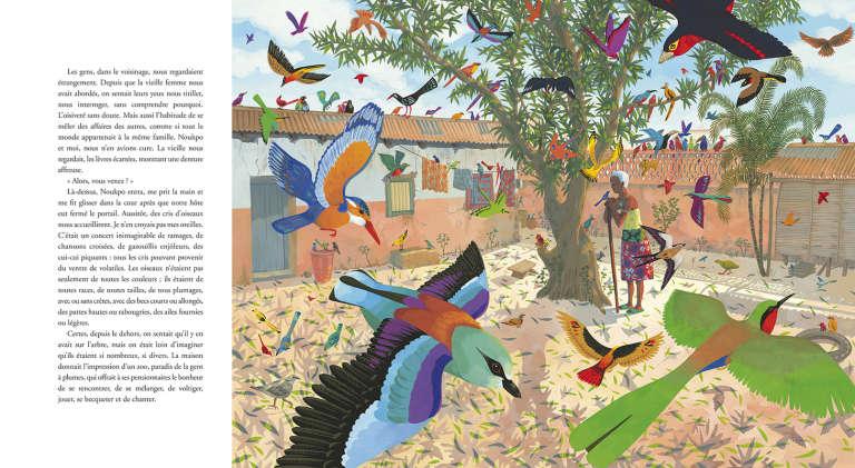 L'auteur Florent Couao-Zotti et l'illustratrice Alexandra Huard ont choisi la capitale du Bénin comme cadre deleur album jeunesse «Le Lance-pierres de Porto-Novo».
