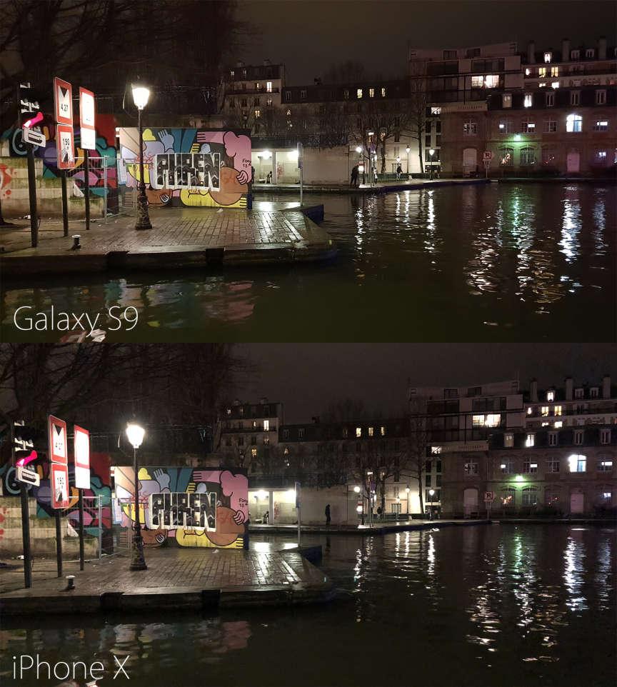 Les images du S9 sont plus vives, plus détaillées que celles de l'iPhone X. La différence n'est toutefois flagrante que lorsqu'on l'affiche en plein écran sur un ordinateur.