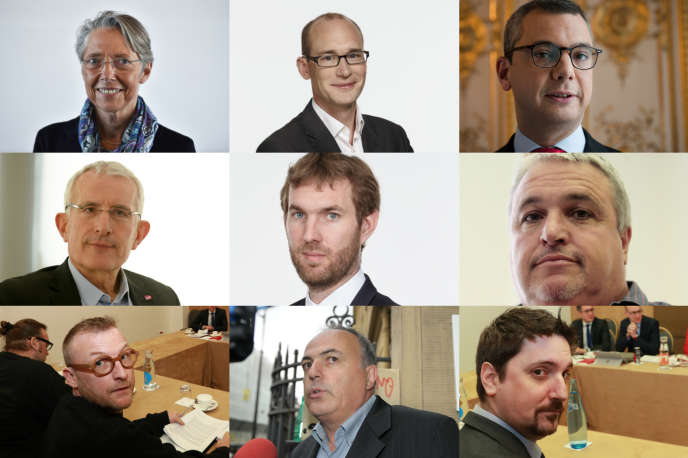 Elisabeth Borne, Julien Dehornoy, Alexis Kohler, Guillaume Pepy, Benjamin Raigneau, Didier Aubert, Erik Meyer, Roger Dillenseger, Laurent Brun.
