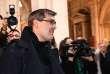 Julien Coupat, à Paris, au deuxième jour du procès de Tarnac.