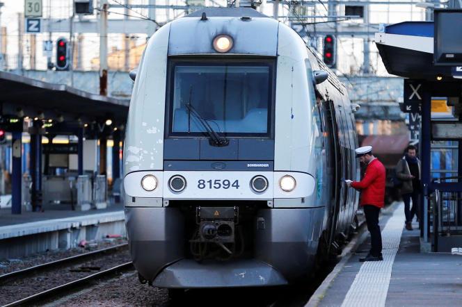 Un train en gare de Bordeaux, en mars 2018.