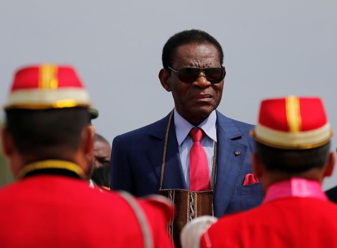 Le président de Guinée équatoriale, Teodoro Obiang Nguema Mbasogo, à Santa Cruz, en Bolivie, en novembre 2017.