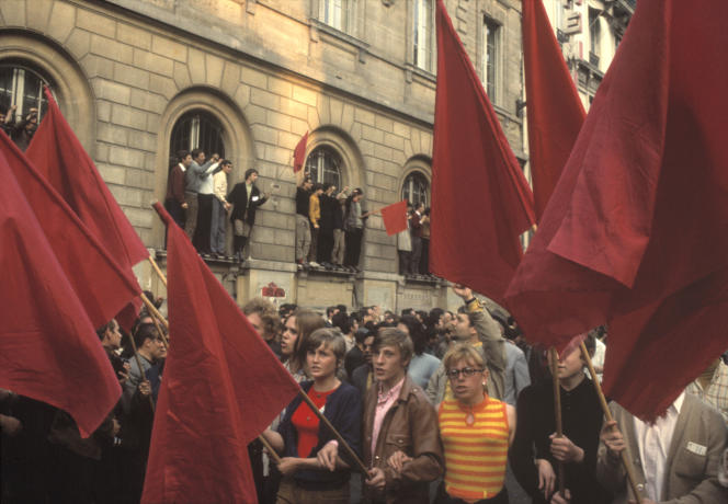 Manifestation, à Paris, le 29 mai 1968.