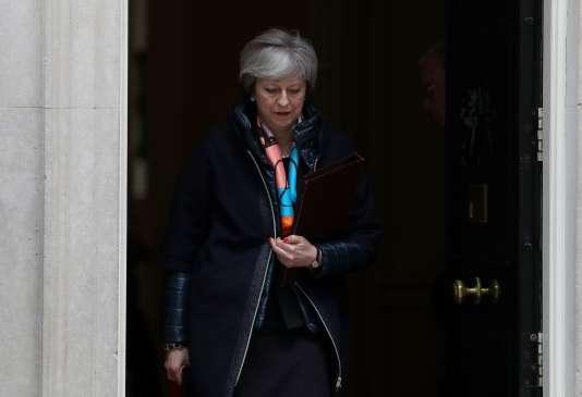 Theresa May, le 13 mars, à Londres.