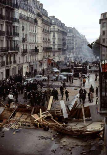 Dans le Quartier latin, à Paris, au matin du 11 mai 1968.
