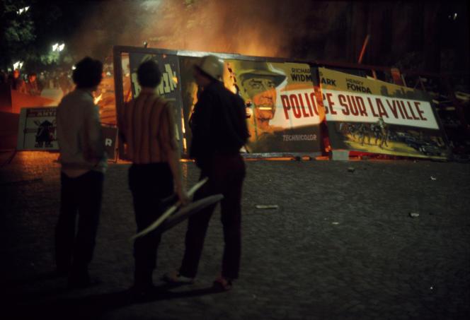 Dans le Quartier latin, à Paris, en mai 1968.