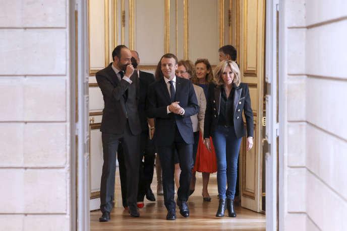 Le premier ministre, Edouard Philippe et le président, Emmanuel Macron,à l'Elysée, le 25 novembre 2017.