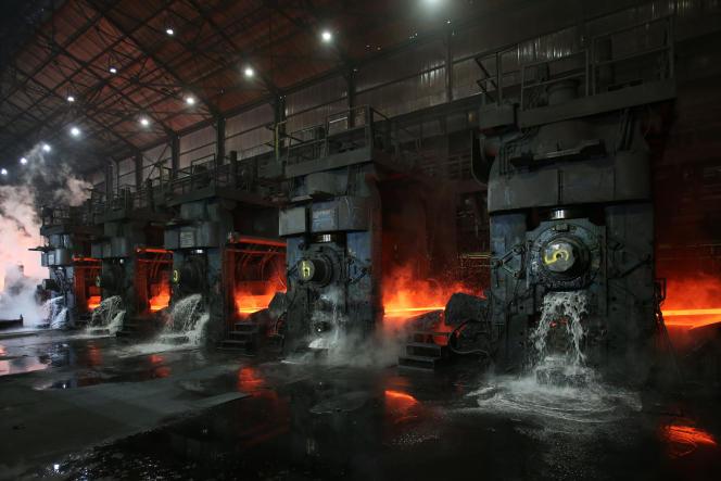 L'aciérie du groupe Novolipetsk Steel à Farrell (Pennsylvanie), aux Etats-Unis, le 9 mars.