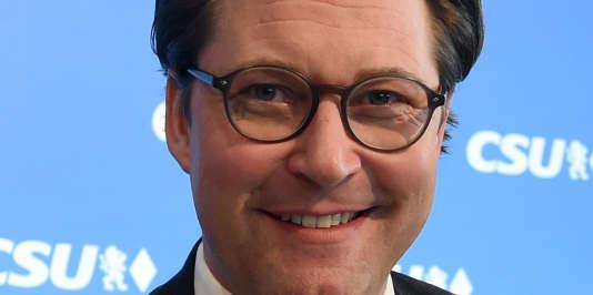 Andreas Scheuer, nouveau ministre des transports, à Munich, le 5 mars.