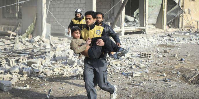 A Ghouta, dans la banlieue de Damas (Syrie), le 21 février.