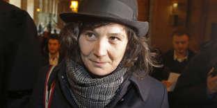 Yildune Lévy à l'ouverture du procès de l'affaire de Tarnac, le 13mars 2018.
