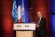 Le ministre français des affaires étrangères, Jean-Yves Le Drian, le 13 mars au siège de l'Unesco, à Paris, lors des célébrations des 30 ans du Groupe d'experts intergouvernemental sur l'évolution du climat