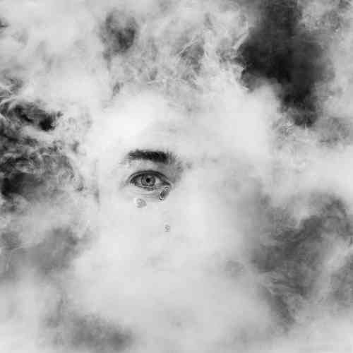 «Un cyclope en pleurs prêt à sombrer dans les nuages : magie de la photographie sous l'eau, où les paramètres physiques sont inversés. Sébastien Barthel a choisi d'utiliser élément liquide pour exprimer une émotion. »