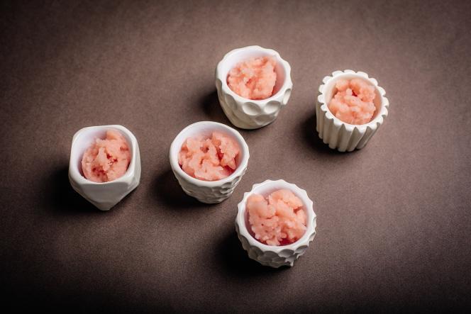 Des granités pamplemousse-Campari pour une fin de repas tout en fraîcheur.