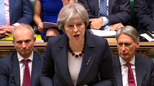 La première ministre britannique Theresa May, à la Chambre des communes, le 14mars 2018.