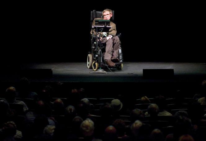 Stephen W. Hawking à Berkeley, Californie, en 2007.