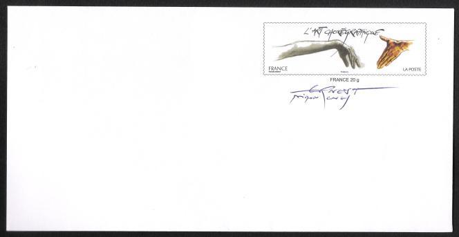 Enveloppe signée par Ernest Pignon-Ernest.