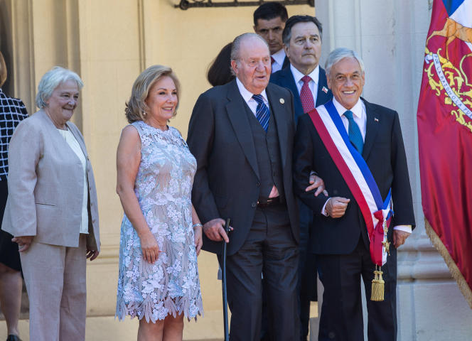 Juan Carlos, à Valparaiso, au Chili, le 11 mars.