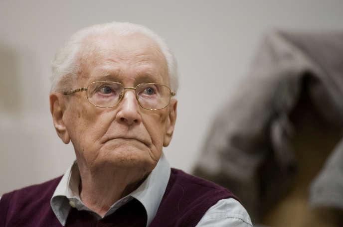 Oskar Gröning, pendant son procès, le 23 avril 2015.