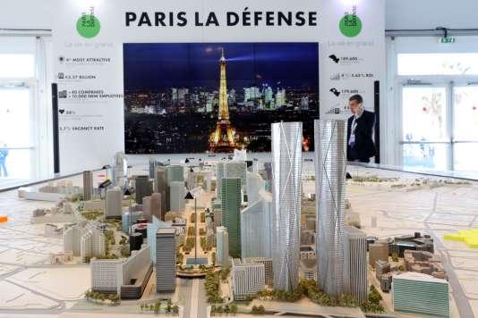 Au Marché international des professionnels de l'immobilier, mardi 13 mars, à Cannes.