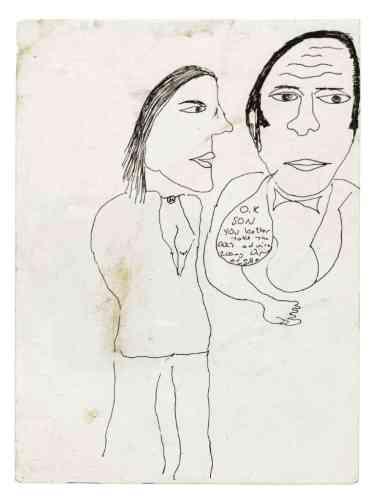 Un dessin qui représente la toute-puissance du psychiatre, auquel il fait dire : « Tu as intérêt à suivre l'ordonnance du docteur : 20 mg de Depixel ou tu ne rentres pas à la maison. »