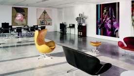 Le bureau de Patrizio Bertelli, époux de Miuccia Prada et président du groupe, à Milan.