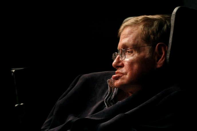 Stephen Hawking au Cap (Afrique du Sud), en 2008.