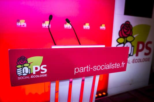 Au siège du PS, rue de Solférino à Paris, le 15 mars.