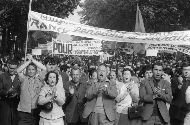 Manifestation de la CGT, le 29mai 1968.