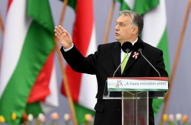 Viktor Orban,le premier ministre hongrois, à Budapest, le 15 mars 2018.