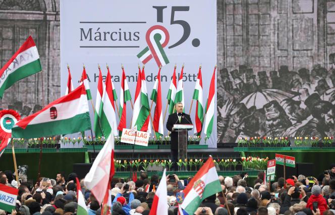 Viktor Orban, le premier ministre hongrois, à Budapest, le 15 mars 2018.